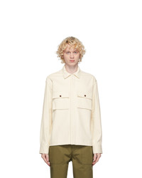 MAISON KITSUNÉ Off White Hidden Placket Shirt