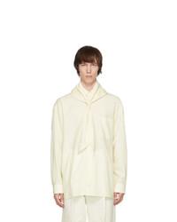 UNIFORME Off White Oversized Cool Wool Hood Shirt