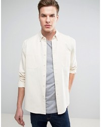 Asos Overshirt In Off White