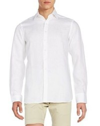 Saks Fifth Avenue Regular Fit Linen Sportshirt