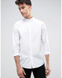 Asos Regular Fit Shirt In White With Button Down Collar