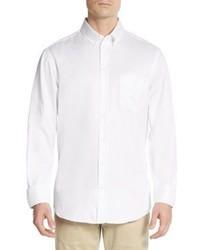 Emporio Armani Regular Fit Tonal Striped Cotton Sportshirt