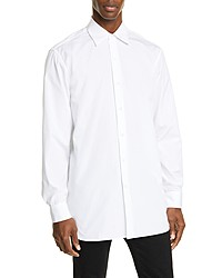 Dries Van Noten Relaxed Fit White Button Up Shirt