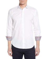 Bugatchi Shaped Fit Cotton Shirt