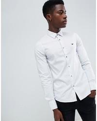 Emporio Armani Slim Fit All Over Shirt In White