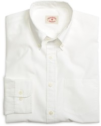 Brooks Brothers Solid White End On End Sport Shirt