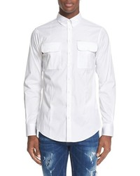 DSQUARED2 Stretch Cotton Military Shirt
