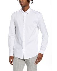 Topman Stretch Form Flow White Button Up Shirt