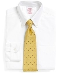 Brooks Brothers Traditional Fit Button Down Collar Dress Shirt