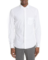 Z Zegna Trim Fit Cotton Poplin Sport Shirt