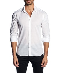 Jared Lang Trim Fit Grid Sport Shirt