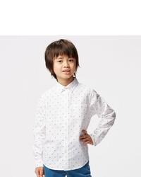 Uniqlo Boys Oxford Long Sleeve Shirt