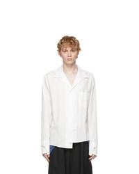 Sulvam White Asymmetric Shirt