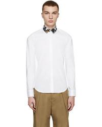Kenzo White Contrast Collar Shirt