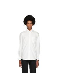 Blue Blue Japan White Cotton Oxford Raglan Sleeve Shirt
