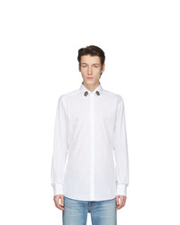 Dolce and Gabbana White Crown Collar Shirt