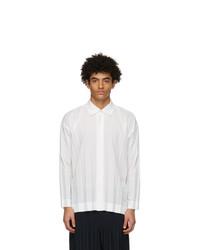 Homme Plissé Issey Miyake White Edge Shirt