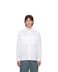 Paul Smith White Eyelet Military Pocket Shirt