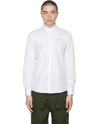 MAISON KITSUNÉ White Fox Head Embroidery Classic Shirt