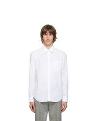 Maison Margiela White Gart Dyed Slim Shirt