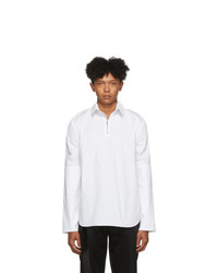 Spencer Badu White Half Zip Dress Shirt
