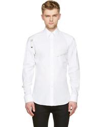 Alexander McQueen White Harness Button Up Shirt