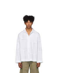 Jacquemus White La Chemise Mouchoirs Long Sleeve Shirt