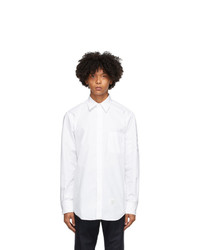 Thom Browne White Mono Oxford 4 Bar Classic Shirt