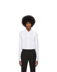 Alexander McQueen White Organic Stretch Cotton Shirt