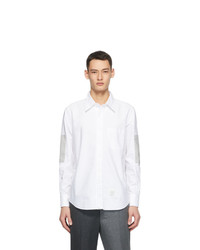 Thom Browne White Oxford Elbow Patch Shirt