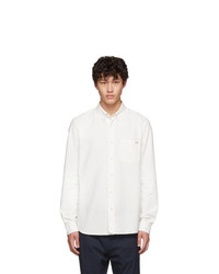 Hugo White Oxford Ermann Solid Shirt