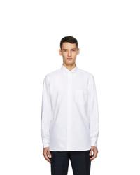 Drakes White Oxford Regular Fit Shirt