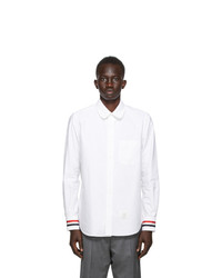 Thom Browne White Oxford Straight Fit Shirt