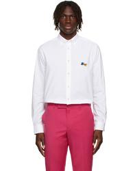 Paul Smith White Paint Splatter Modern Shirt
