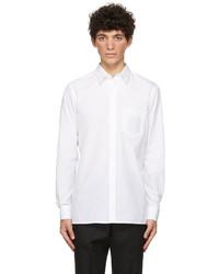 Fendi White Poplin Trompe Loeil Shirt