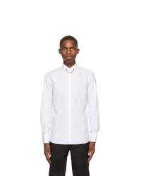 Neil Barrett White Poplin Tuxedo Necklace Shirt