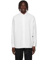 C2h4 White Raw Edge Shirt