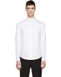 Carven White Rounded Collar Shirt