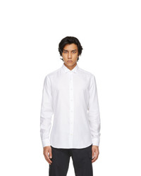 Z Zegna White Stretch Twill Shirt