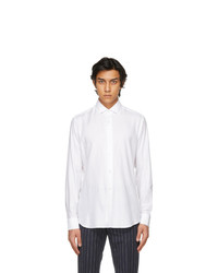 Z Zegna White Tencel Shirt