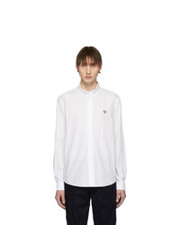 Kenzo White Tiger Crest Casual Fit Shirt