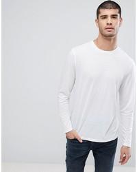 c3bb9a691cdf Men's White Long Sleeve T-Shirts by ASOS DESIGN | Men's Fashion ...