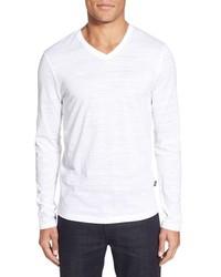 BOSS Tyson V Neck Long Sleeve T Shirt