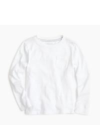 J.Crew Boys Slub Long Sleeve Pocket T Shirt