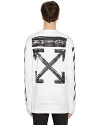 Off-White Brushed Arrows Jersey Oversize T Shirt