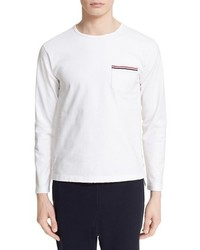 Thom Browne Distressed Long Sleeve Pocket T Shirt
