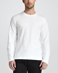 Ermenegildo Zegna Soft Touch Long Sleeve Tee White