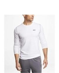 Express Exp Core Fitted Long Sleeve Tee White Small