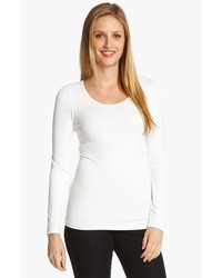 Karen kane supersoft long sleeve tee white x large medium 140348