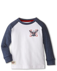 Tommy Hilfiger Kids Marled Long Sleeve Crew Tee